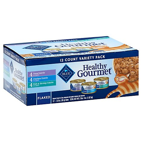 Blue Healthy Gourmet Cat Food Flaked In Gravy Variety Pack - 12-3 Oz