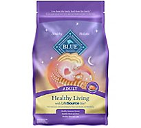 Blue Cat Food Healthy Living Adult Chicken & Brown Rice Recipe - 5 Lb
