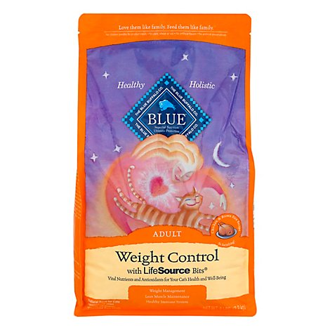 Blue Cat Food Weight Control Adult Chicken & Brown Rice Recipe - 5 Lb