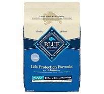 Blue Life Protection Formula Dog Food Adult Chicken And Brown Rice Recipe Bag - 24 Lb
