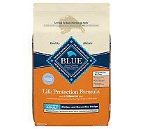 Blue Life Protection Formula Dog Food Adult Large Chicken And Brown Rice Recipe - 24 Lb