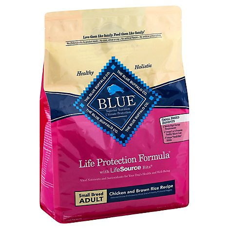 Blue Life Protection Formula Dog Food Adult Small Chicken And Brown Rice Recipe - 3 Lb