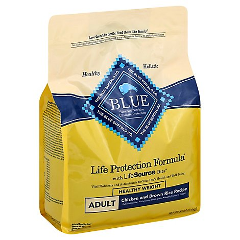 Blue Life Protection Formula Dog Food Healthy Weight Adult Chicken And Brown Rice - 3 Lb