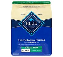 Blue Dog Food Life Protection Formula Adult Chicken & Brown Rice Grain Free Bag - 10 Lb