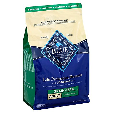 Blue Life Protection Formula Dog Food Adult Grain Free Chicken Recipe Bag - 5 Lb