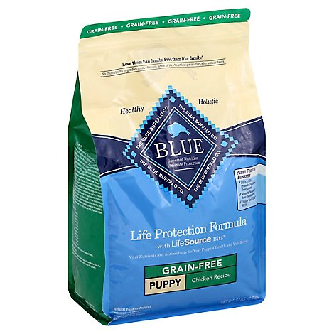 Blue Dog Food Life Protection Formula Puppy Chicken Recipe Grain Free Bag - 5 Lb