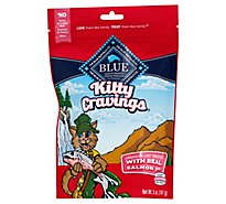 BLUE Kitty Cravings Cat Treats Crunchy With Real Salmon 1st Bag - 5 Oz