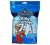 BLUE Kitty Cravings Cat Treats Crunchy With Real Tuna 1st Bag - 5 Oz
