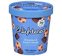 Enlightened Ice Cream Light Brownies & Cookie Dough 1 Pint - 473 Ml
