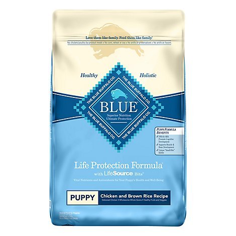 Blue Dog Food Life Protection Formula Puppy Chicken & Brown Rice Bag - 15 Lb