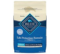 Blue Dog Food Life Protection Formula Adult Chicken & Brown Rice Bag - 15 Lb