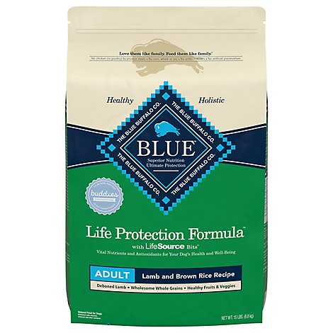 Blue Dog Food Life Protection Formula Adult Lamb & Brown Rice Bag - 15 Lb