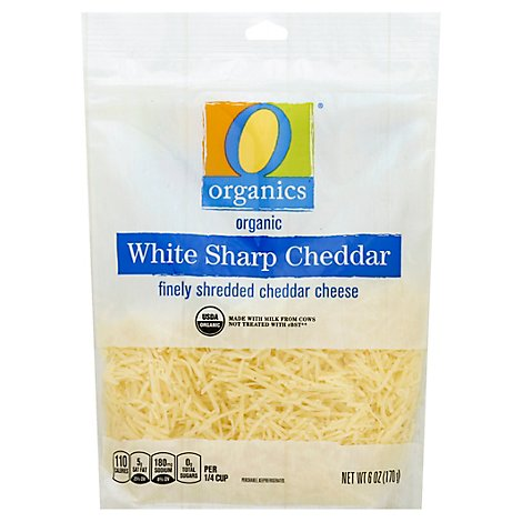 O Organics Organic Cheese Cheddar White Sharp Shredded - 6 Oz