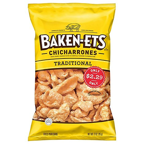 Baken-Ets Regular Pork Skins Plastic Bag - 3 Oz