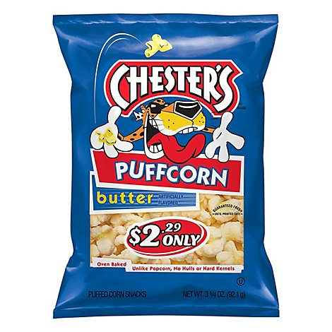 Chesters Puffcorn Butter Puffered Corn - 3.25 Oz