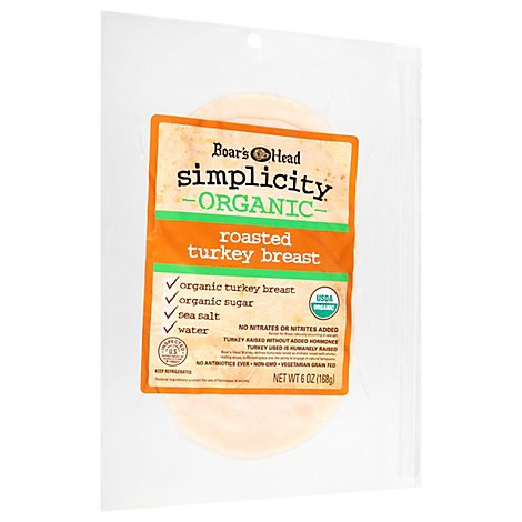 Boars Head Simplicity Organic Roasted Turkey Vp - 8 Oz