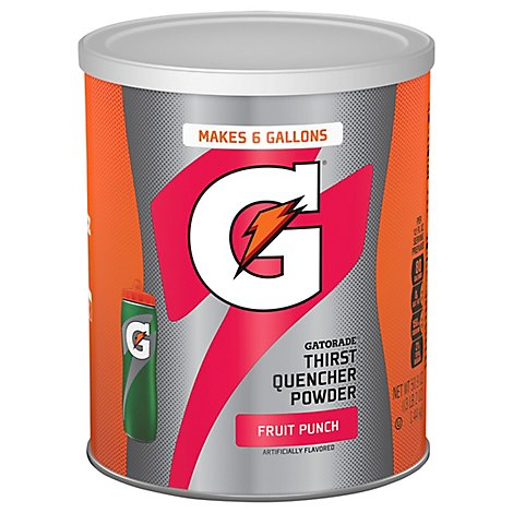Gatorade 02 Perform Thirst Quencher Fruit Punch Powder Mix Tin 51 Ounce - 50.9 Oz