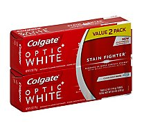 Colgate Optic White Stain Fighter 2pk - 2-4.2 Oz