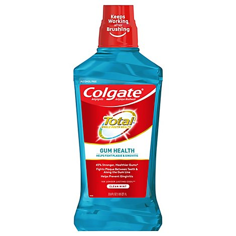 Colgate Mouthwash Gum Health Clean Mint - 33.8 Oz