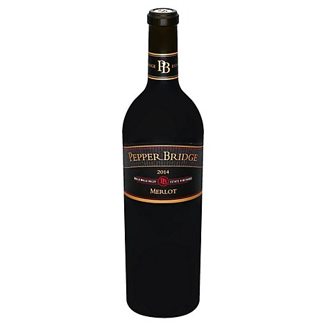 Pepper Bridge Merlot Wine - 750 Ml
