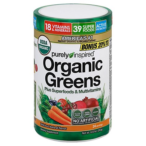 Purely Inspired Powder Organic Greens - 9.88 Oz