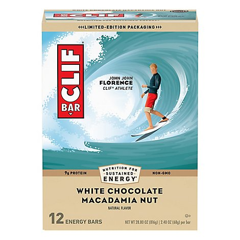 Clif Bar Wht Choc Mac Bars - 12 Count