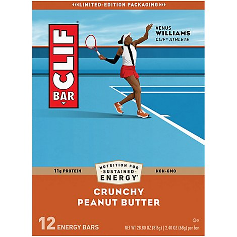 Clif Bar Crnchy Pb Bars 12p - 12 Count