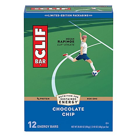 Clif Bar Choc Chip Bars 12p - 12 Count