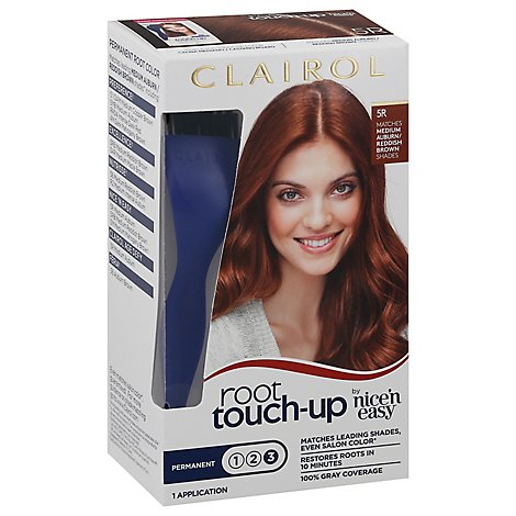 Clairol Root Touch Up Haircolor Permanent Medium Auburn/Reddish Brown 5R - Each