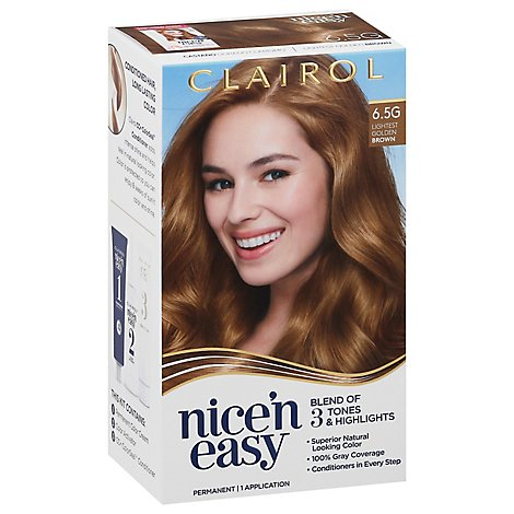 Clairol Nice N Easy Hair Color Permanent Lightest Golden Brown 6.5G - Each