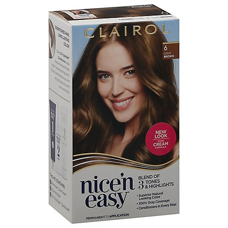 Clairol Nice N Easy Haircolor Permanent Light Brown 6 - Each