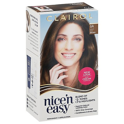 Clairol Nice N Easy Hair Color Permanent Light Ash Brown 6A - Each