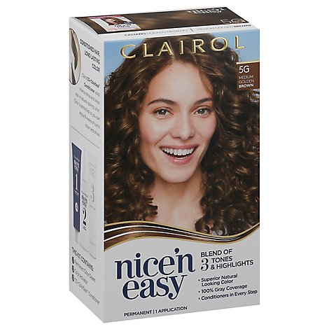 Clairol Nice N Easy Haircolor Permanent Medium Golden Brown 5G - Each