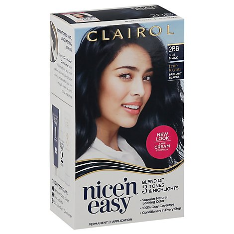 Clairol Nice N Easy Hair Color Permanent Blue Black 2Bb - Each