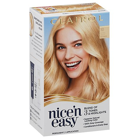 Clairol Nice N Easy Haircolor Permanent Extra Light Blonde 10 - Each