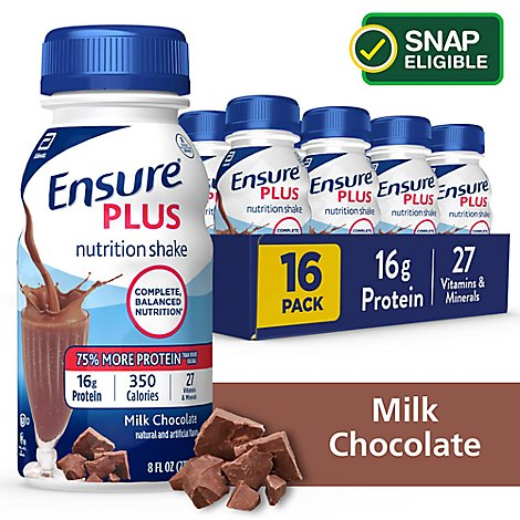 Ensure Plus Nutrition Shake Ready-to-Drink - Milk Chocolate - 16 - 8 fl oz