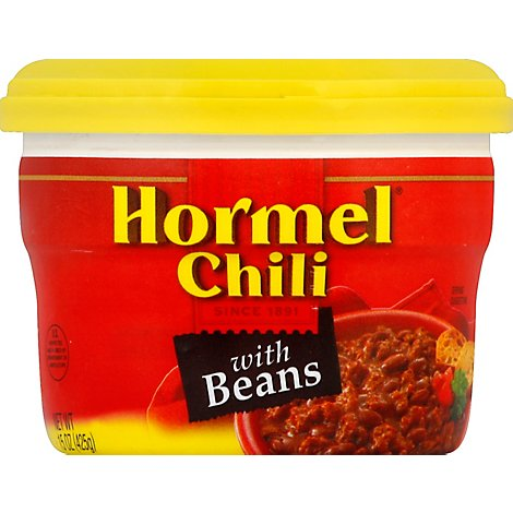 Hormel Foods Chili With Beans In Microwave Cup - 15 Oz