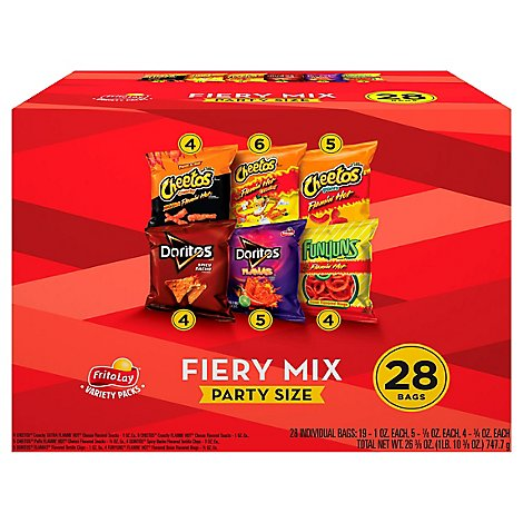 Frito-Lay Snacks Fiery Mix Party Size - 28 Count