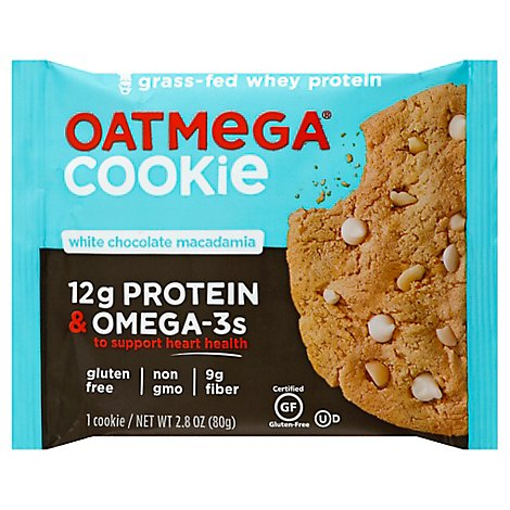 Oatmega Cookie White Chocolate Macadamia - 2.8 Oz