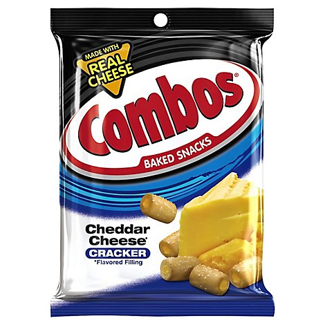 COMBOS Baked Snacks Cracker Cheddar Cheese Bag - 6.3 Oz