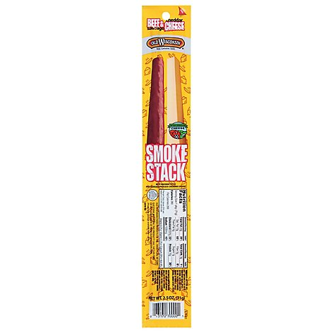 Old Wisconsin Smoke Stack Beef & Cheddar Cheese - 2.5 Oz