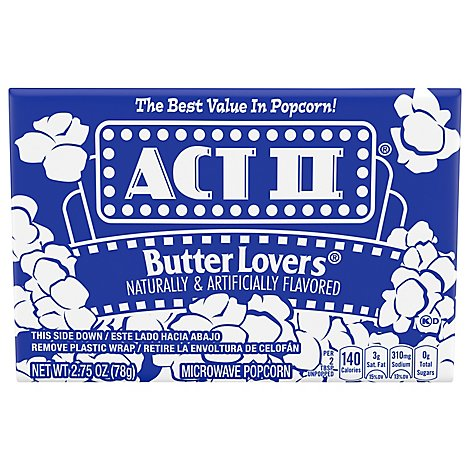 Act II Butter Lover Popcn - 2.75 Oz