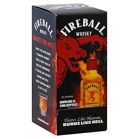 Fireball Cinnamon Whisky 66 Proof - 20-50 Ml