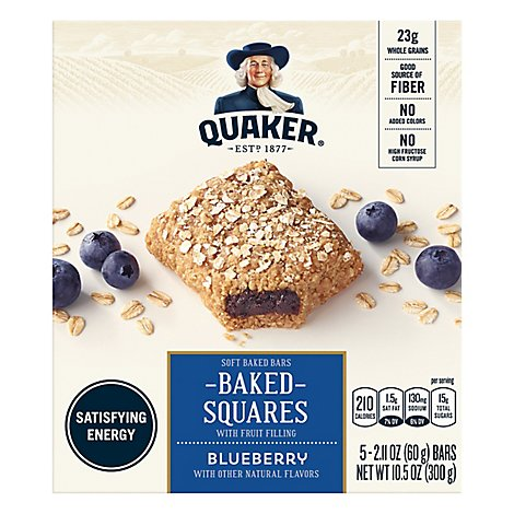 Quaker Breakfast Squares Blueberry - 10.5 Oz
