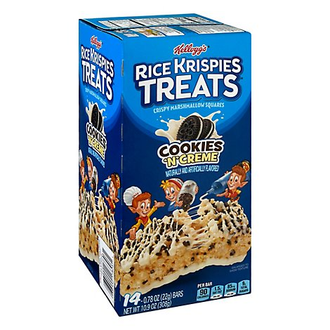 Kelloggs Rice Krispies Treats Crispy Marshmallow Squares Cookies N Creme 14 Count - 10.9 Oz
