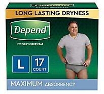 Depend Underwear for Men Maximum Absorbency Large - 17 Count