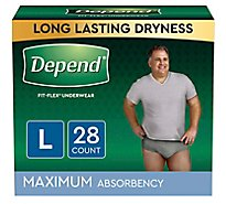 Depend Underwear for Men Maximum Absorbency Large - 28 Count