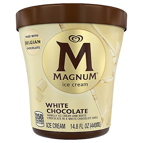 Magnum Ice Cream White Chocolate Vanilla - 14.8 Oz