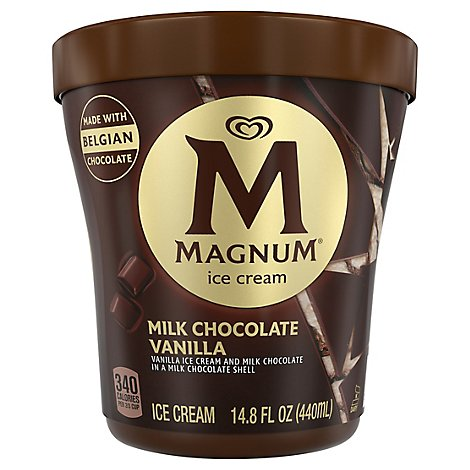 Magnum Ice Cream Milk Chocolate Vanilla - 14.8 Oz