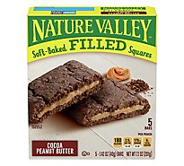 Nature Valley Soft Bkd Filled Squares Cocoa Peanut Butter - 7.1 Oz